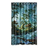 DongMen Highway Bridge Fenstervorhang Vorhang Window Curtain Polyester 127cm x 244cm(One piece)