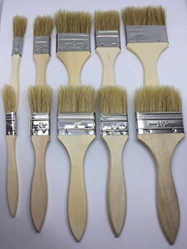 lot-au-lieu-de-pinceau-set-10-pieces-pinceau-plat-avec-manche-en-bois-poils-naturels
