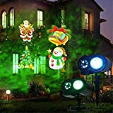 Weihnachtsprojection Lampe Doppel-Barrel Pattern Light Wireless Remote Control Board Gadgets Outdoor 12 Slides Landscape Waterproof Projector Lights-1pcs)