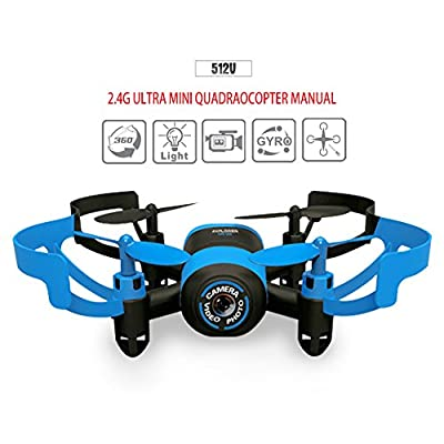 Kingtoys JXD 512V Mini RC Helicopter Drone UFO 2.4G 6-Axis Gyro Headless Mode RC Drone with 0.3MP Camera