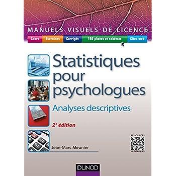 Manuel visuel de statistiques pour psychologues - 2ed - Analyses descriptives
