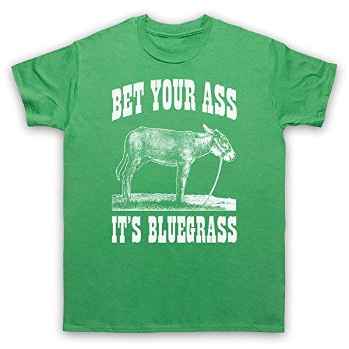 Bet Your Ass It's Bluegrass Slogan Herren T-Shirt Grun