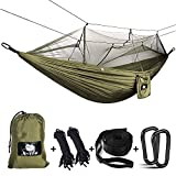 Anyoo Camping Hammock with Mosquito Net Nylon Parachute Fabric Lightweight Bed
