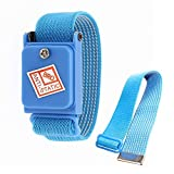 Global 1Pcs Cordless Wireless Anti Static ESD Discharge Blue Cable Band Wrist Strap Slim