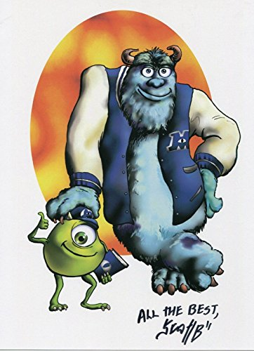 Monsters University Mike Sullivan Fun Signed Tribute 8.5x11 Color Print With COA