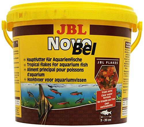 JBL NovoBel 30154 Alleinfutter für alle Aquarienfische, Flocken 5,5 l