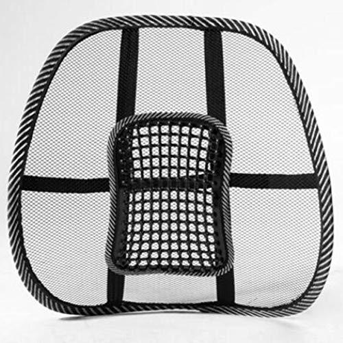 Banbie8409 Massage Vent Mesh Lendenwirbelsäule Rückenstütze Unterstützung Autositz Stuhlkissen Pad-schwarz- - Vent-support