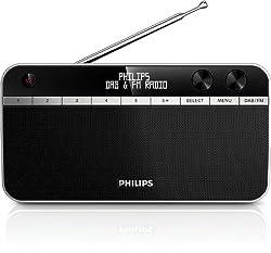 Philips AE5250 Tragbares Radio (DAB+, FM-Tuner, LCD-Display) schwarz