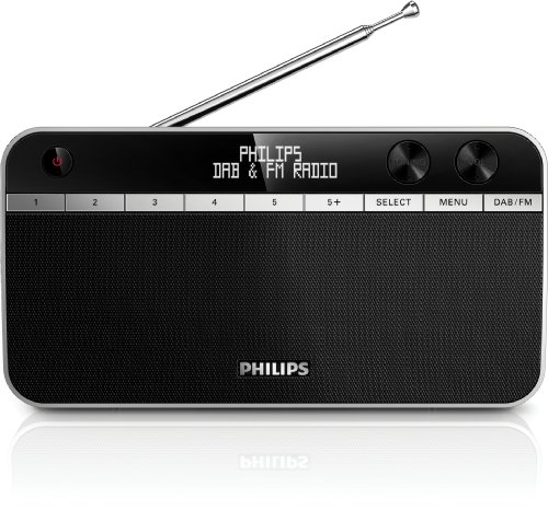 Philips AE5250 Tragbares Radio (DAB+, FM-Tuner, LCD-Display) schwarz