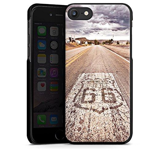 Apple iPhone 8 Hülle Case Handyhülle USA Biker Strasse Hard Case schwarz