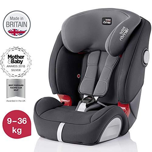 Britax Römer Kindersitz 9 - 36 kg, EVOLVA 123 SL SICT Autositz Isofix Gruppe 1/2/3, storm grau