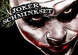 shoperama Profi-Schminkset JOKER MAKEUP KIT für Karneval / Fasching / Halloween
