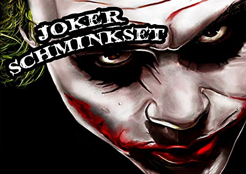 shoperama Profi-Schminkset JOKER MAKEUP KIT für Karneval / Fasching / (Halloween Make Up Kits)
