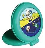 Claessens' Kids KSGTN Kid'Sleep Globetrotter-Nachtlicht/Aufsteh-Anzeiger, grün hergestellt von Claessens'Kids SARL