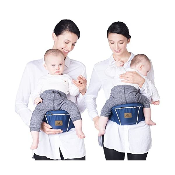 "Bebamour Baby Carrier Hip Seat 5 Carry Ways with Detachable Seat Breathable Baby Carrier for Newborn (Denium Blue) bebear ★ PROMISED QUALITY AND FABRIC - The baby carrier is made with 100% polyester with breathable cotton make baby feel comfortable and cozy. ★ ERGONOMIC DESIGNED - Although it is a baby carrier hipseat, it also is designed according to baby's growth. Suit for baby who is 0-36 months and whose capacity is between 0-33lbs (14.9KG). ★ LIGHTWEIGHT WITH 5 CARRY WAYS - Size of the baby carrier is L11.8""*H9.8""*W7.1""(L20*H25*W18CM); Weight is about 1.2lbs (0.58KG); You can use it by 5 carry ways, details in paper instruction manual. 6"