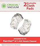 2Kärcher lavabile e riutilizzabile per scopa Fit SC1.020Multi-Purpose a vapore, ideato e progettato da Crucial vuoto