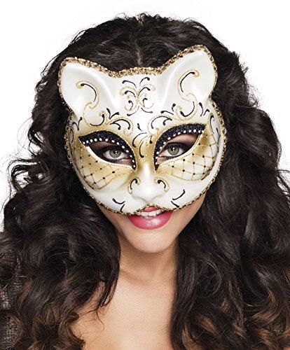 mzubehör venezianische Katzenmaske, Mehrfarbig (Venezianische Piraten Maske)