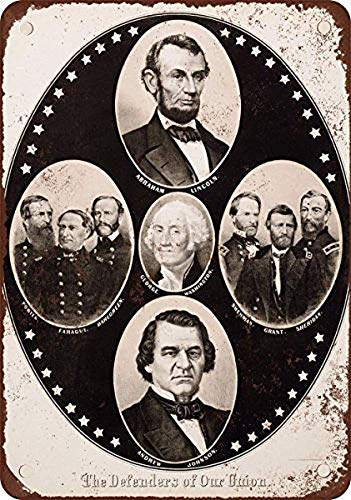 Aluminum Sign 1864 Abraham Lincoln Presidential Campaign Iron Poster Painting Tin Sign Vintage Wall Decor for Cafe Bar Pub Home Beer Decoration Crafts Retro Vintage Sign ()