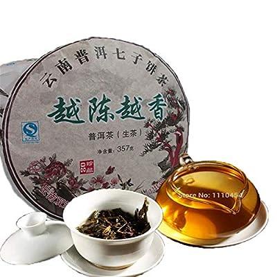 357g (0,787LB) thé Pu Erh brut thé New Puer thé vert Naturellement thé biologique yunnan thé Pu Puh Erh thé chinois thé Healthy Puerh vert Bon