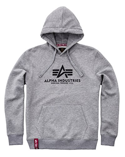 Alpha Industries Herren Hoodie grau XL (Sport-industrie)