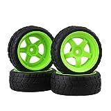 Schwarz und Grün RC 1: 10Onroad Racing Auto Kunststoff Felgen & Gummi Reifen 4Stück
