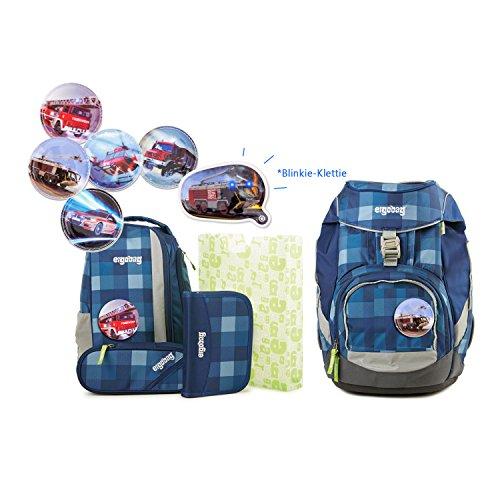 Preisvergleich Produktbild Ergobag Pack - KaroalaBär E-14 Schulrucksack Set 6tlg. Set - inkl. 1 Blinkie nach Wahl