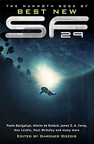 book cover of The Mammoth Book of Best New Science Fiction 29th Annual Collection
