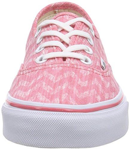 Vans U Authentic Denim Chevron, Sneakers, Unisex Multicolore (denim chevron coral/true white)