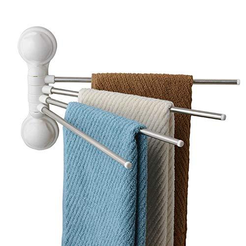 SpongeBob-Home 4-Arm Edelstahl Handtuch Bar Klappbar Arm Schwenkbar Aufhänger Badezimmer Lagerung Organizer Rostfrei Quadratisch Stil Wandhalterung -