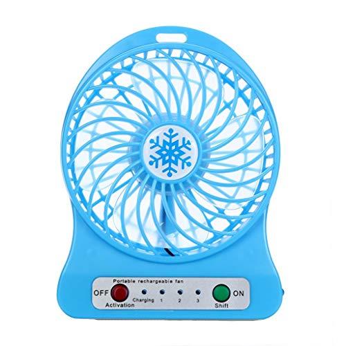 YWLINK Tragbare Wiederaufladbare LED-LüFter Klimaanlage 3 Modi Ventilator BüRo Familie Mini Desktop USB 18650 Fan