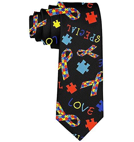 Autismus-Bewusstseins-Band-Krawatten für die Krawatten-Krawatten der Mann-Krawatten-Männer