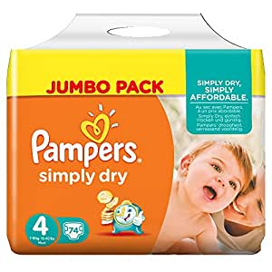 pampers simply dry couches taille 4 7 18 kg maxi. Black Bedroom Furniture Sets. Home Design Ideas