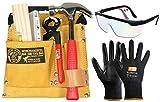 CORVUS Kinder-Werkzeug-Set mit Werkzeuggürtel 01 + Zubehör, Schutzbrille und Schnittschutzhandschuhen Schnittis von Zite Tools 3er Set