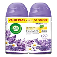 Air Wick Freshmatic Ultra Twin Refill, Lavender and Chamomile, 6.17 Ounce Cans