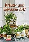 Kräuter und Gewürze - Kalender 2017 - Harenberg-Verlag - Wochenkalendarium - 53 Blatt mit Zitaten und Rezepten - Wandkalender - 25 cm x 35,5 cm