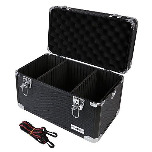 HMF 14801-02 Alu Transportkoffer, Aufbewahrungskoffer, Kamerakoffer, individuelle Facheinteilung, 40 x 27,5 x 23,5 cm