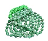 Green Aventurine Mala Bead Size - 8mm Chakra Balancing Reiki Healing Aura Cleansing Crystal,FREE Lava Bead Bracelet Worth Rupees 700-/