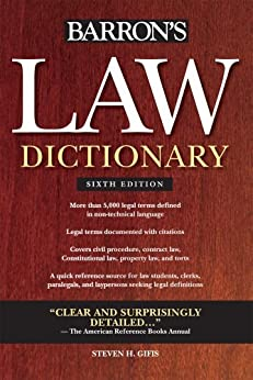 Law Dictionary, (Trade) 6th Ed par [Gifis, Steven H.]