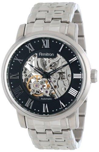 armitron-homme-20-4919bksv-silver-tone-automatic-black-dial-bracelet-montre