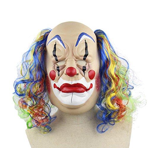 HBOS Clown mit Bunten Perücke für Erwachsene Kinder Halloween Party Kostüm Cosplay Requisiten