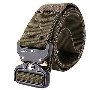 FEIKCOR Cinturón Táctico Cinturón Resistente para Hombres Cinturón Militar DE 1,5 '' Cinturones de Fijación Rápida Cinturón de Nylon con Hebilla de Metal 12