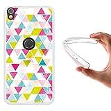 WoowCase Alcatel Shine Lite Hülle, Handyhülle Silikon für [ Alcatel Shine Lite ] Geometrische Formeln Dreieck Handytasche Handy Cover Case Schutzhülle Flexible TPU - Transparent