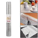 #4: HOKIPO® Aluminium Anti Slip Kitchen Drawer Mat, 45 x 300 cm. (Pack of 1)