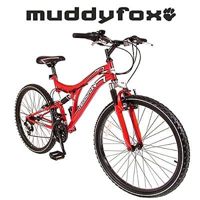 "MuddyFox Ikon 26"" Dual Suspension Mountain Bike - Mens - Red - New Range"