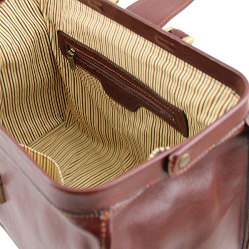 Tuscany Leather - Raffaello - Borsa medico in pelle Miele - TL10077/3 Testa di Moro