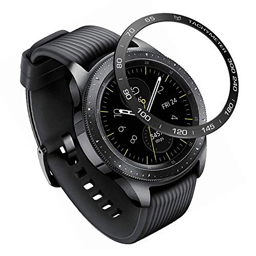 XIHAMA Bezel Ring Compatible for Samsung Galaxy Watch 42mm / Gear Sport, Stainless Steel Bezel Styling Circle Adhesive Protection Anti Scratch (GA42-D01)