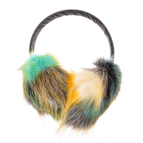 ZLYC Neuer Damen Kinder Mädchen Kunstpelz Ohrenschützer Winter Ohrenwärmer mit Verstellbarem Haarreifen