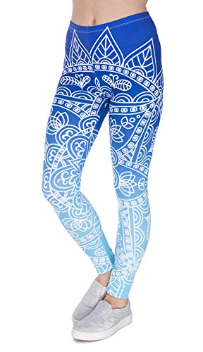 DD.UP Damen Strumpfhose Sport Print Yoga Leggings Workout Fitness Running Pants Mehrfarbig One Size (Leggings Mädchen Kleidung)