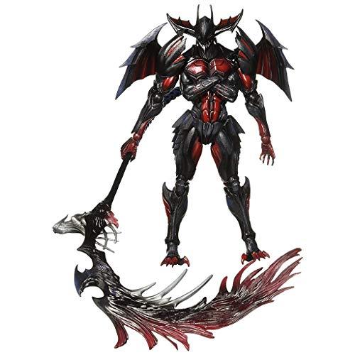 Siyushop Monster Hunter Diablos-Rüstung (Rage-Version) Ultimative Spielkunst Kai-Figur - Dämonenaktionsfigur - Ausgestattet mit Waffen und auswechselbaren Händen - Hohe 28CM