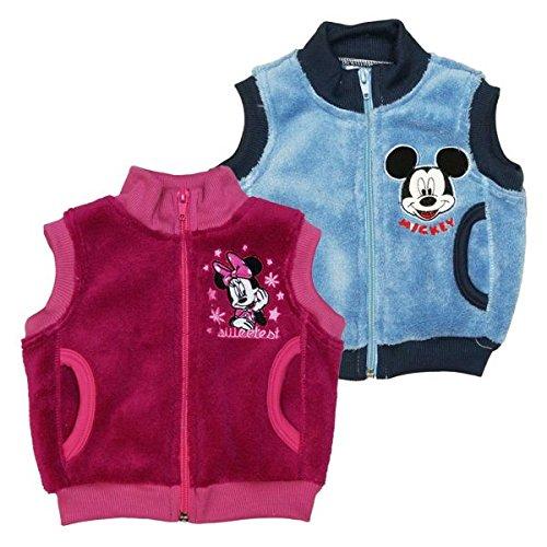 Minnie & Mickey Mouse Wellsoft- Weste Größe 80, Farbe Pink